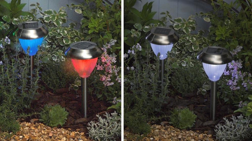Faretto giardino led faretto led da esterno con pannello solare