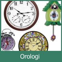 Orologi per esterni, orologi per interni e in stile stazione.