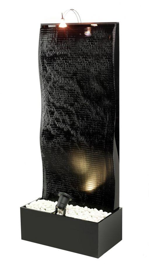 Fontana a muro d'acqua zigrinato con luci €489,88