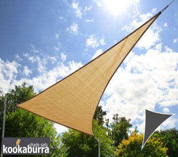 Tende a vela Kookaburra per feste- Triangolo rettangolo 4,2m x 4,2m x 6,0m Sabbia Traspirante ...