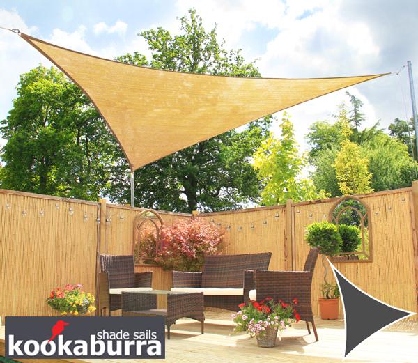 Tende a vela Kookaburra per feste- Triangolare 3,6 m Sabbia Traspirante Intrecciata (185g) €36,99