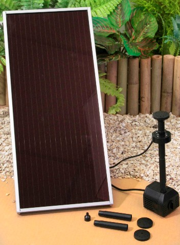 Kit pompa per fontana solare – 250 l/h con lampada led bianca €59,99