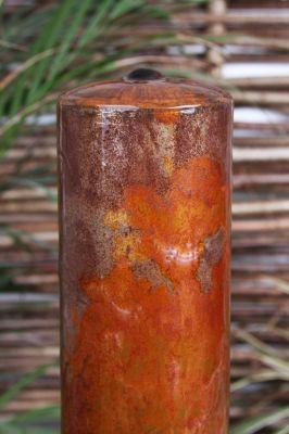 Fontana trittico tubolare acciaio corten luci led fontane for Luci tubolari a led