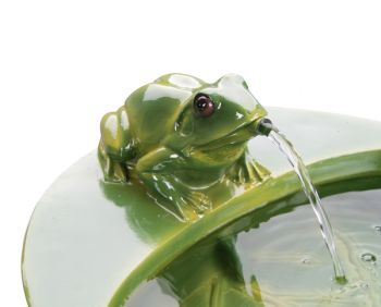 Solar Frog Cascade Water Feature by Solaray� - H64cm