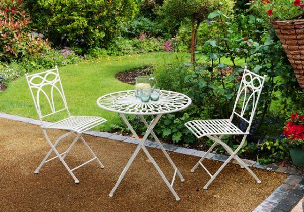 Set da giardino/bistro Pesaro – Tavolo e due sedie pieghevoli ...