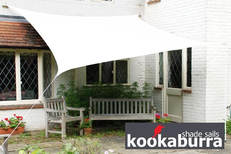 Tende a vela Kookaburra per feste- Quadrata 3,6 m Bianco Polare Traspirante Intrecciata (185g) € ...