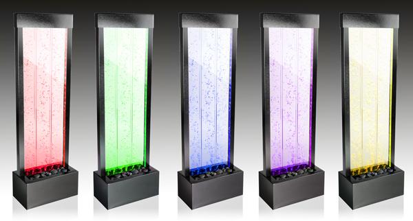 Fontana parete d'acqua con bollicine a energia solare, con luci LED e telecomando - 150cm €409,99