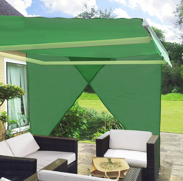 Set da 2 teli ombreggianti laterali triangolari verdi per for Tende frama