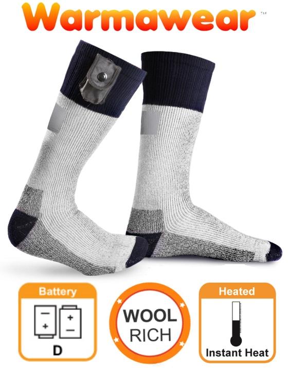 scegli il meglio enorme inventario acquista il più recente Calze riscaldate a batteria Warmawear™ con strip riflettente
