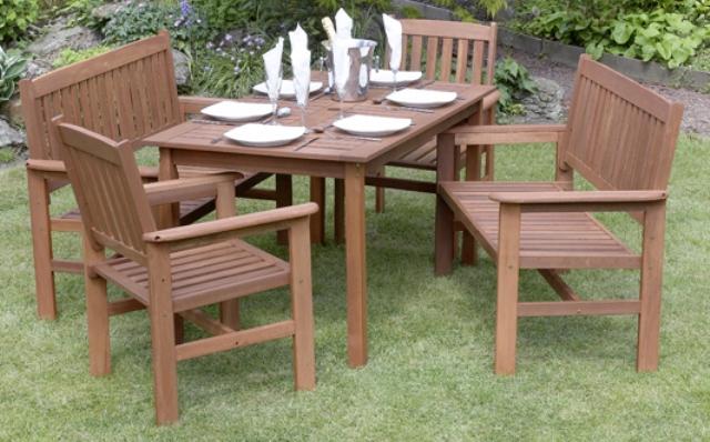 Tavolo In Legno Con Sedie Da Giardino.Set Di Mobili Da Giardino Tropicana 6 Posti Tavolo Sedie E