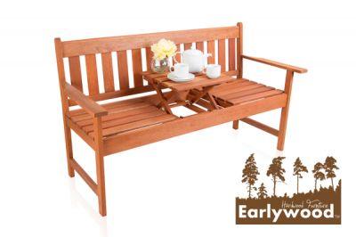 Panchina da giardino earlywood 2 posti in legno con for Panchine da giardino amazon