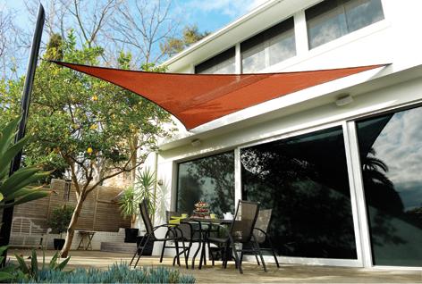 Tenda a vela coolaroo terracotta triangolare 3 6m for Tenda vela ikea