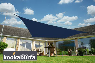 Tende A Vela Impermeabili.Tende A Vela Kookaburra Quadrata 3 6 M Blu Tessuto Impermeabile