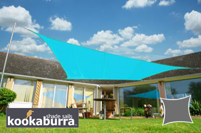 Tenda A Vela Quadrata : Tende a vela kookaburra quadrata m azzurro tessuto