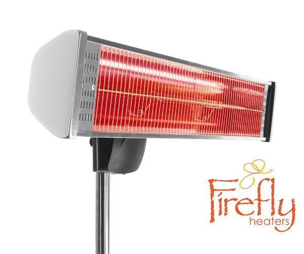 Lampada riscaldante alogena firefly™ 1.8kw con luci led telecomando