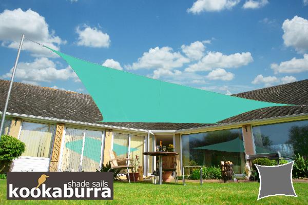 Tenda A Vela Quadrata : Tenda a vela kookaburra quadrata m turchese tessuto