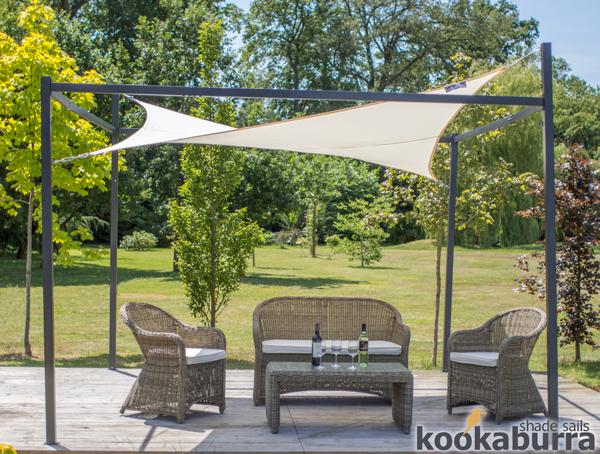 3m x 2m rettangolare avorio resistente all 39 acqua tenda a for Tenda a vela rettangolare