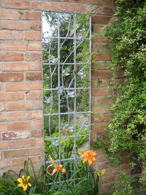 Specchio Da Giardino In Metallo Zincato Rampicante 222 99