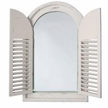 Specchio anticato con cornice a finestra bianca € 79,99