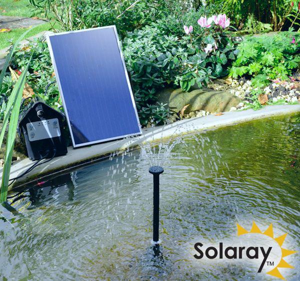 Kit Pompa Solare Per Fontana 250 L H Con Luci A Led Bianche