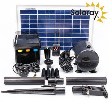 Kit per pompa ad energia solare 800l h della solaray for Filtro per laghetto ad energia solare