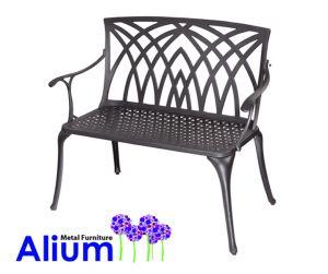 Panchine Da Giardino In Alluminio.Panchina Da Giardino Alium In Alluminio Nero