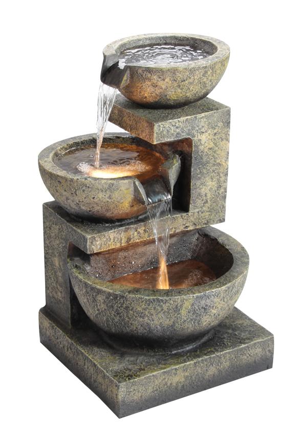 Fontana tre conche di granito con luci 169 99 for Corteccia bricoman