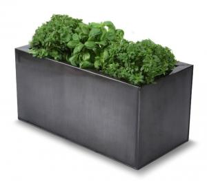 Recipiente rettangolare da erba/pianta per cucina - color titanio ...
