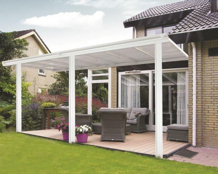 Tettoia per veranda da giardino in bianco x 3m for Giardino primrose