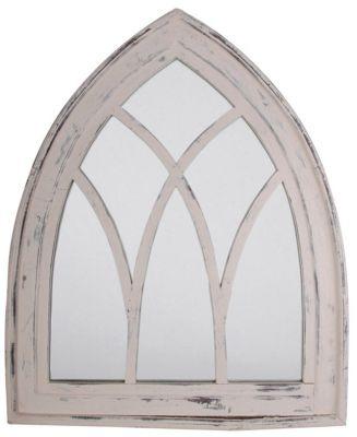 Specchio anticato a finestra gotica bianco 84 99 - Specchio anticato ...