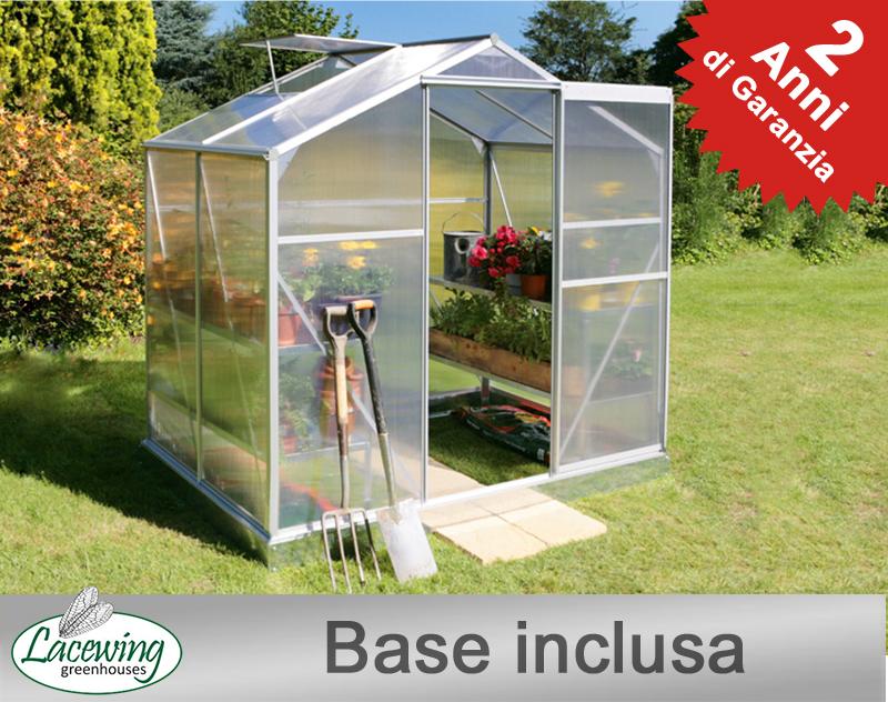 Serra lacewing standard da orto e giardino in alluminio for Serre da giardino leroy merlin