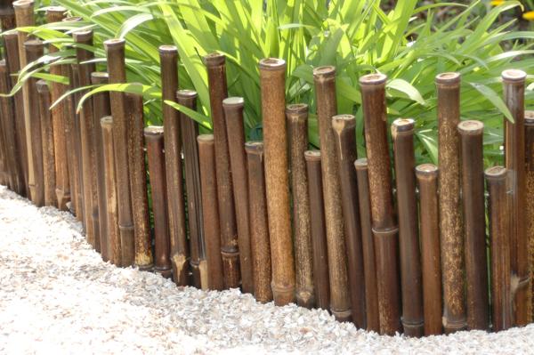 Canne di bamboo nero bordura ornamentale per prato 18 99 for Canne di bamboo da arredo