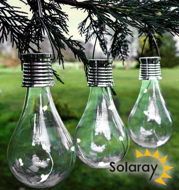 Luci decorative ad energia solare da giardino pacco da 3 by solaray 8 99 - Luci ad energia solare per giardino ...