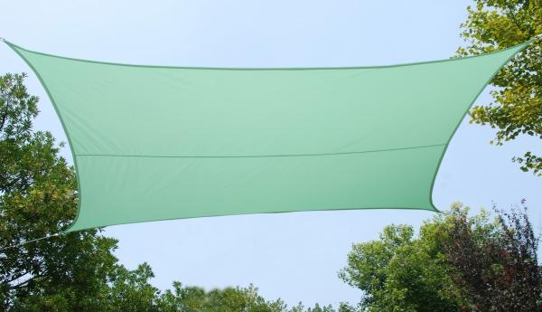 Tenda a vela kookaburra quadrata 3 6 m verde menta for Tenda a vela rettangolare