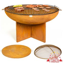 Kit completo per Braciere Barbecue con Base Incrociata 75cm - da La Fiesta