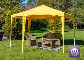 Gazebo da 3.93m colore giallo budget party Diam