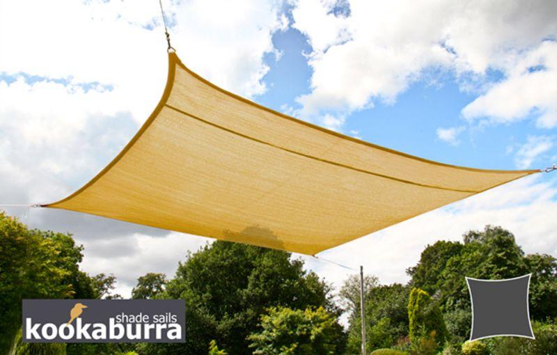Tende a vela Kookaburra® per feste- Quadrata 5,4 m Sabbia Traspirante Intrecciata (185g) € 104,99