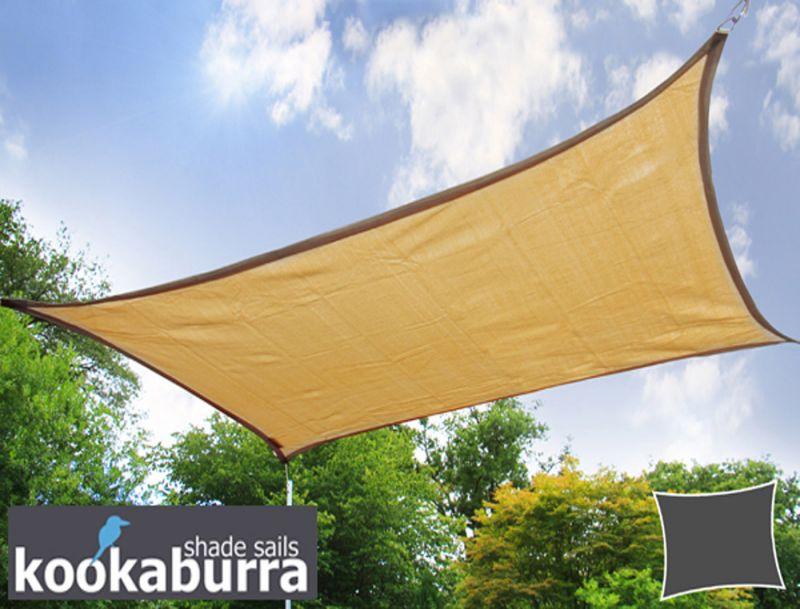Tende a vela Kookaburra® per feste- Rettangolare 4,0m x 3,0m Sabbia Traspirante Intrecciata ...