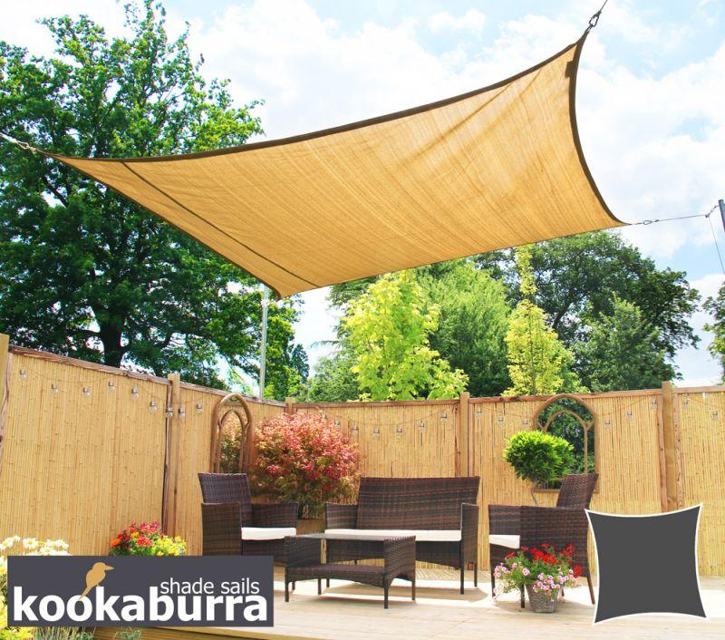 Tende a vela kookaburra per feste quadrata 3 6 m sabbia - Tende a vela da giardino ...