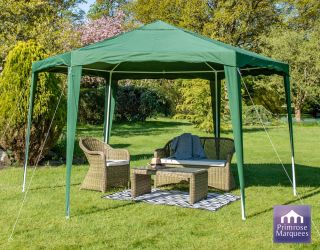 Gazebo da 3.92m colore verde budget party Diam