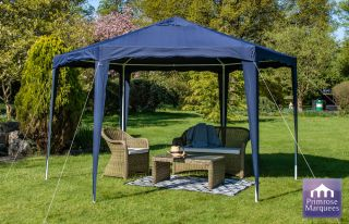 Gazebo budget party colore blu - Diam 3.92m