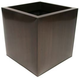 Vaso zincato di forma Cubica-colore Bronzo Scuro – Medium