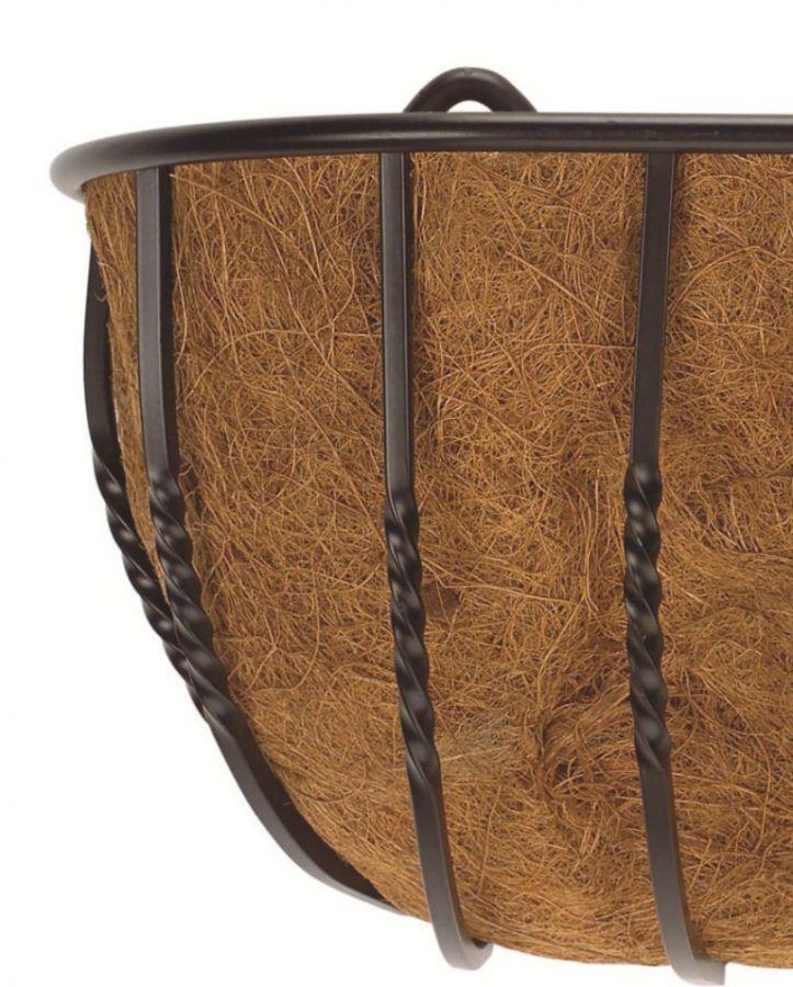 Cestino da parete portavaso in acciaio effetto ferro - Porta vasi in ferro battuto ...