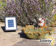 Solar Water Feature ceramica Sparrow sul foglio - 40cm di diametro. da Solaray™
