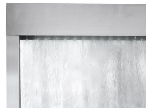 La grande cascata a parete d 39 acqua in vetro e struttura in acciaio inossidabile satinato da 2 - Parete in vetro satinato ...