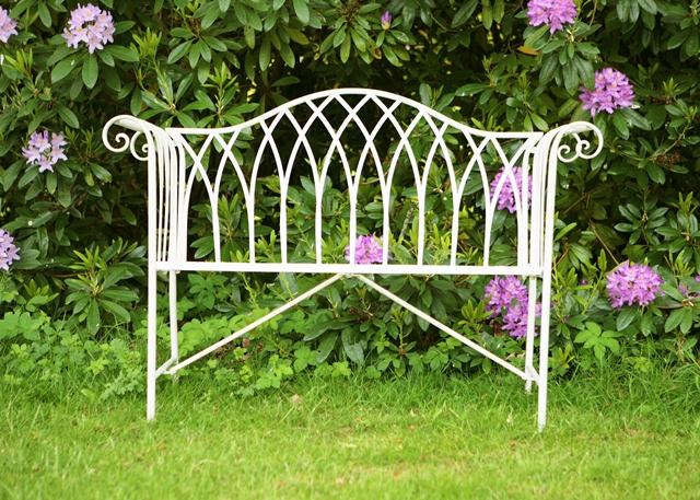 Panchina a due posti per giardino monza in acciaio for Giardino primrose