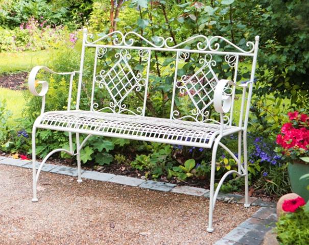 Panchina a due posti per giardino como in acciaio for Giardino primrose