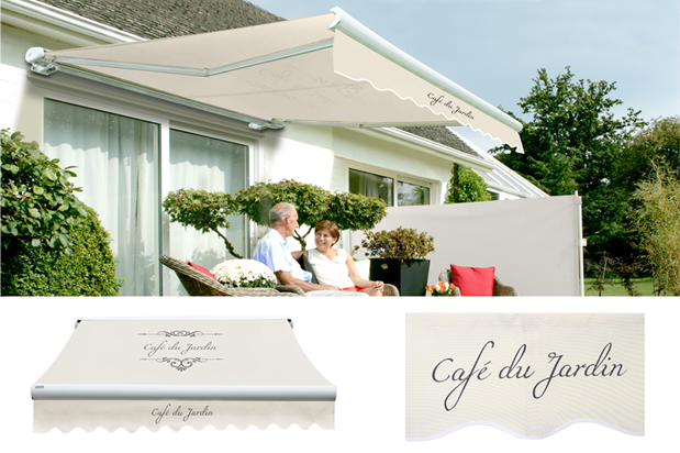 Tenda da sole manuale a cassonetto totale colore cafe du for Jardin 5 soles