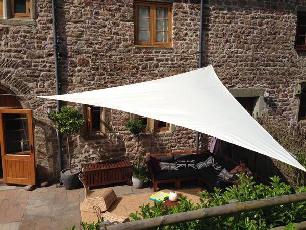 Tende a vela Kookaburra®   Triangolare 3,6 m Avorio Tessuto
