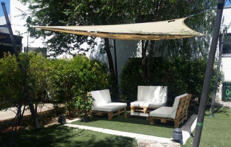 tende a vela kookaburra triangolo rettangolo 4 2m x 4 2m x 6 0m avorio intrecciata. Black Bedroom Furniture Sets. Home Design Ideas
